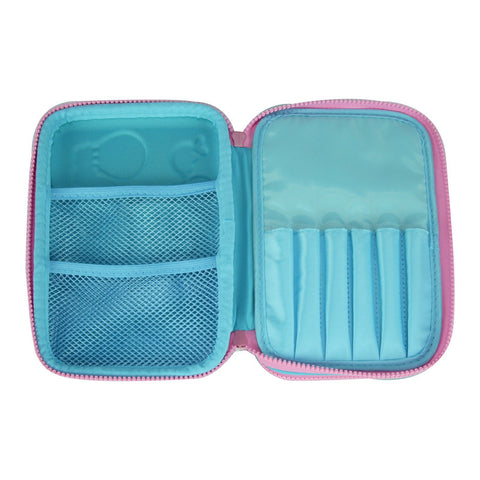 Image of Smily Double Compartment Pencil Case Light Blue