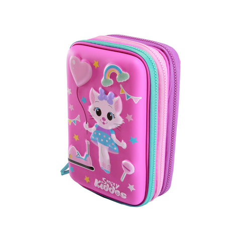 Image of Smily Hartdtop Triple Up Pencil Case Pink