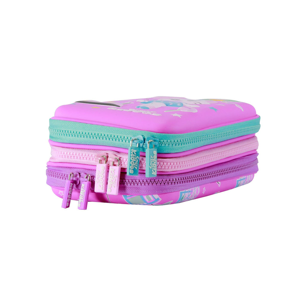 Smily Hartdtop Triple Up Pencil Case Pink