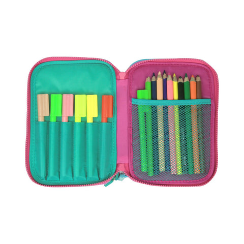 Image of Smily Hartdtop Triple Up Pencil Case Purple