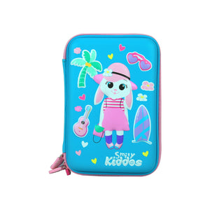 Smily Hartdtop Triple Up Pencil Case Light Blue