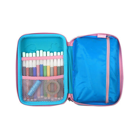 Image of Smily Hartdtop Triple Up Pencil Case Light Blue