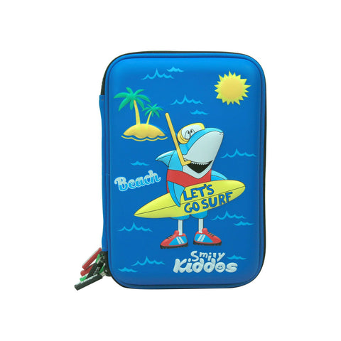 Image of Smily Hartdtop Triple Up Pencil Case Blue