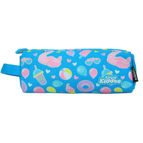 Image of Smily Pencil Pouch Light Blue