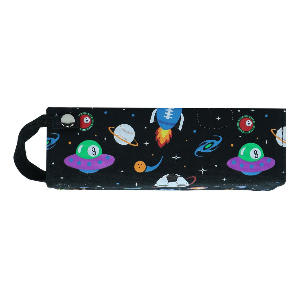 Smily Tray Pencil Case Space Theme (Black)