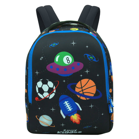 Image of Smily Junior Backpack (Black) -School Bags For Toddlers