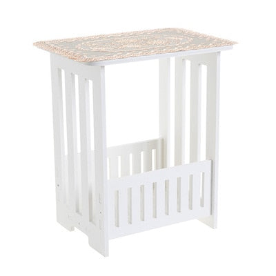 White 2 Layer Small Side Table Plastic Tea Coffee Table For Living Roo Chaimashop