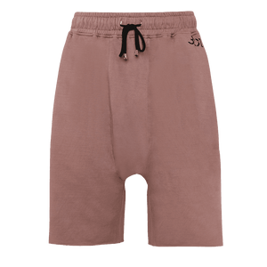 Faded effect Ash rose Drop Crotch featuring an elastic waist with adjustable drawstrings.
