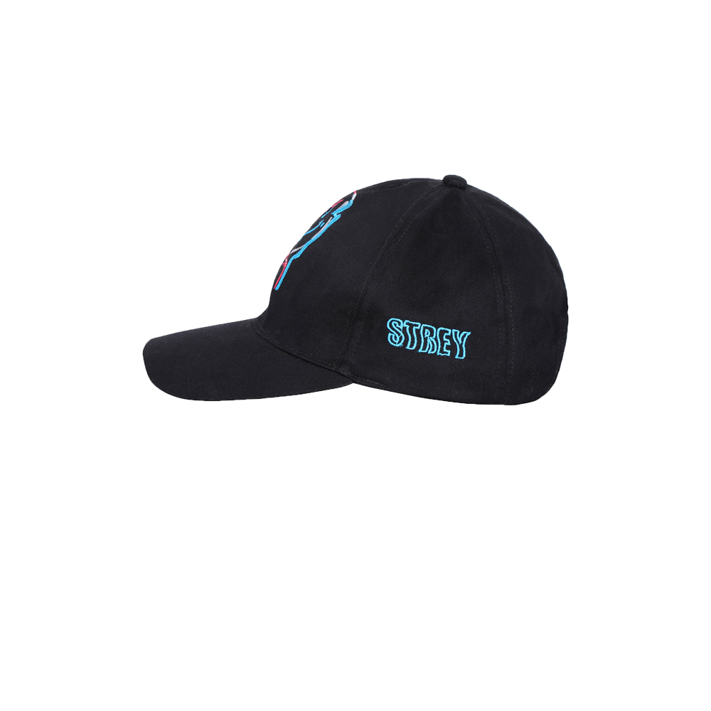 Embroidered drip smile cap back side