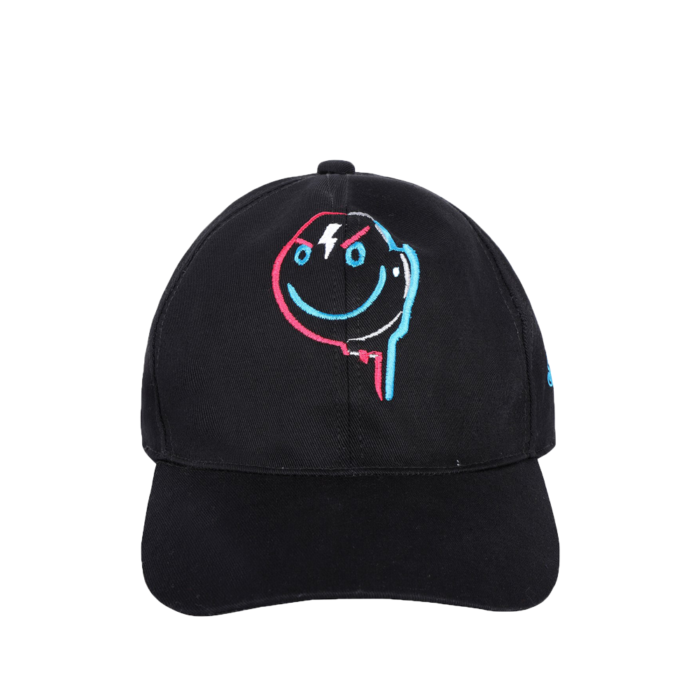 Embroidered drip smile cap front side