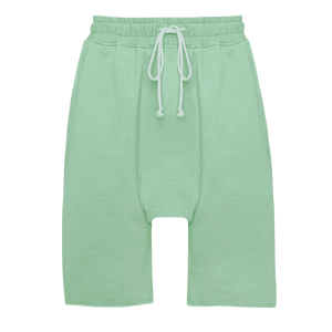 Faded effect Nile Drop Crotch featuring an elastic waist with adjustable drawstrings.