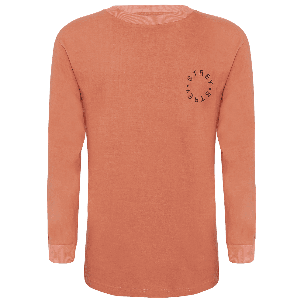 Pink full sleeves regular fit round neck T-shirt.