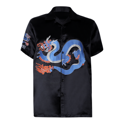 AZURE DRAGON EMBROIDERED SHIRT