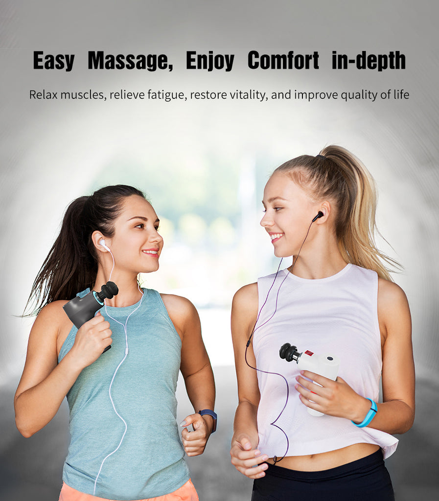 Hi5 RadioHead Vibrating Massage Gun with 6 Levels Speeds equipped Smart Light System(2 colors option)