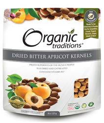 Organic Traditions Dried Bitter Apricot Kernels 227g