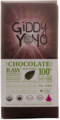 Giddy Yo Hundo Mint sugar free chocolate bar 64g