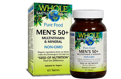 Whole Earth & Sea Men's 50+ Multivitamin 60tab