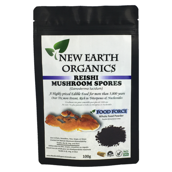 New Earth Organics Reishi Spores 100g