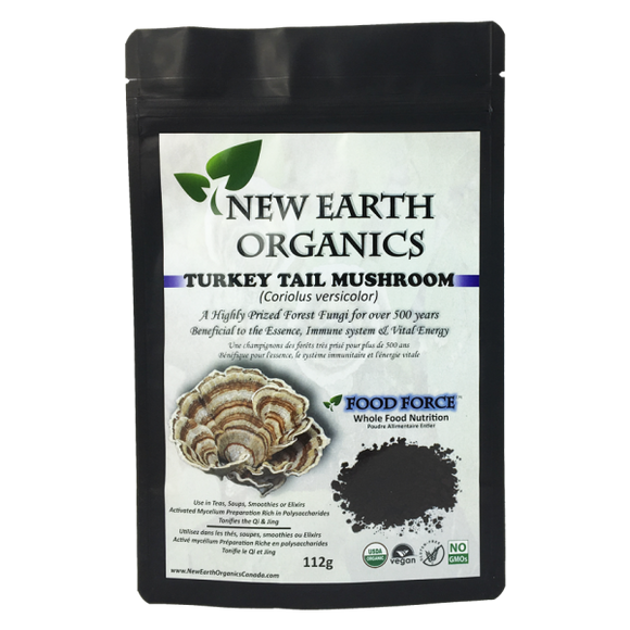 New Earth Organics Turkey Tail Mushroom Powder 112g