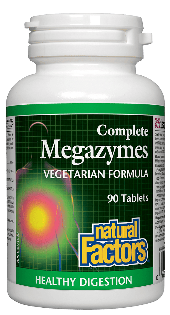 Natural Factors Complete Megazymes 90tab