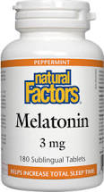 Natural Factors Melatonin 3mg BONUS SIZE