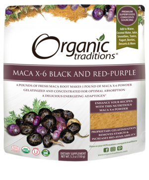 Organic Traditions Maca X-6 Black & Red-Purple Powder
