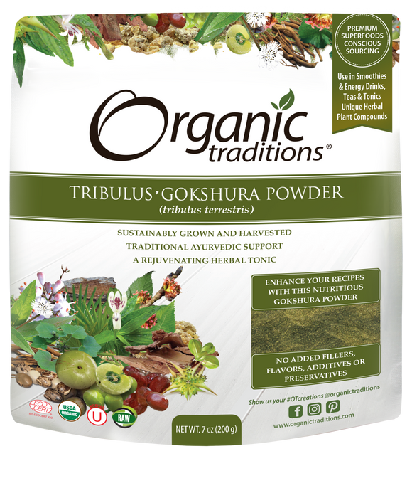Organic Traditions Tribulus Gokshura Puncture Vine Powder 200g