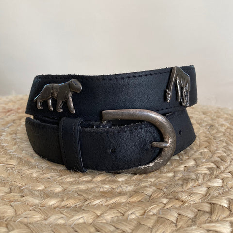 Vintage Tooled Belt