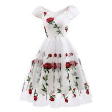 Load image into Gallery viewer, Rose Flower Embroidery Dress