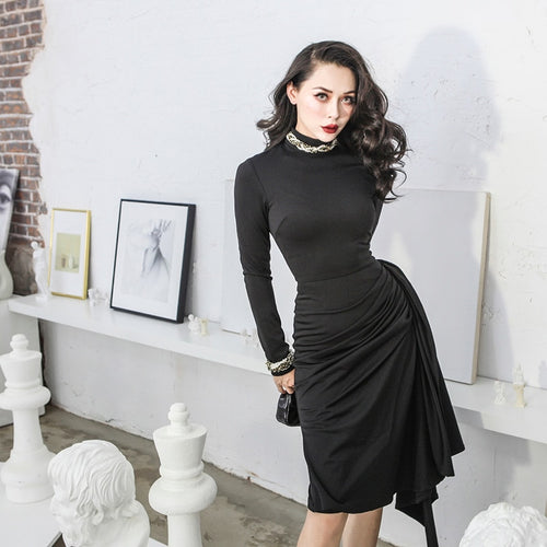 50s women classic little black dress