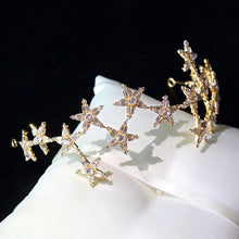Load image into Gallery viewer, Gold Star Hairband Tiara