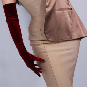 Extra Long velvet Opera gloves