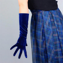 Load image into Gallery viewer, Extra Long velvet Opera gloves
