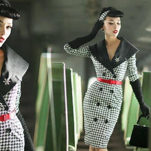 Load image into Gallery viewer, Houndstooth pencil dress