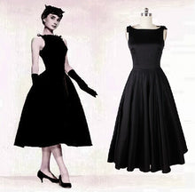 Load image into Gallery viewer, vintage 50s Hepburn dress