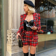 Load image into Gallery viewer, Tweed Blazer & High Waist Shorts separates