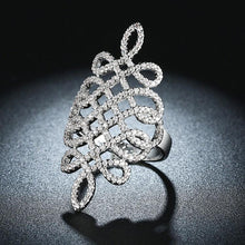 Load image into Gallery viewer, Micro-Pav'e Swarovski Elements Intertwined Grape Vine Cocktail Ring