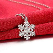 Load image into Gallery viewer, Swarovski Crystal Winter Snow Flake Necklace