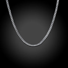Load image into Gallery viewer, 18K White Gold Plated  Italian Figaro Chain Necklace
