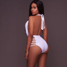 Load image into Gallery viewer, Sexy Women's One-piece Bikini Push Up Backless  Swimsuit