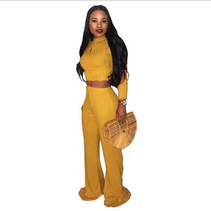 2019 Two-Piece African American Inspired Women's Wide Leg Trousers