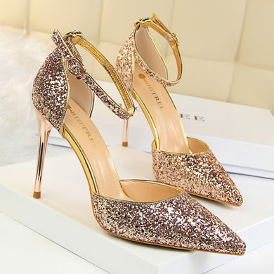 Sequin Women's Sexy High Heel Shoes