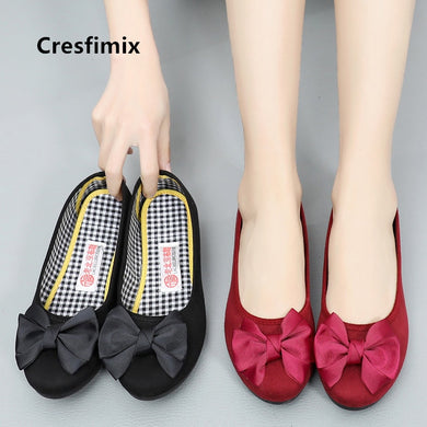 Women fashion black dance shoes lady cute sweet red ballet shoes casual shoes