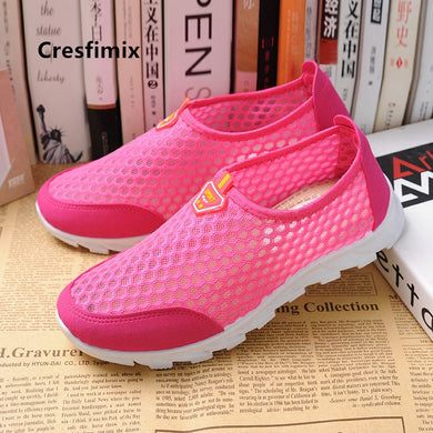 Women fashion mesh breathable pink anti skid shoes lady casual blue comfortable shoes