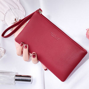 Women's PU Wristlet Phone Key Case Organizer
