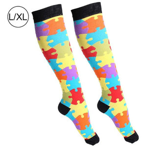 Women's Breathable Comfortable Cotton Compression Stockings Funny Socks