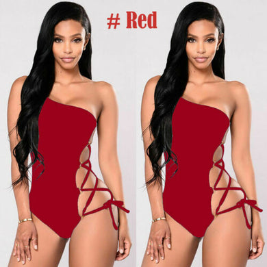 Women's One-piece One Shoulder Swimsuit