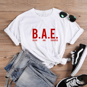 ONSEME Black And Educated T Shirt