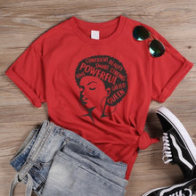 Load image into Gallery viewer, Afro Power Graphic T Shirts