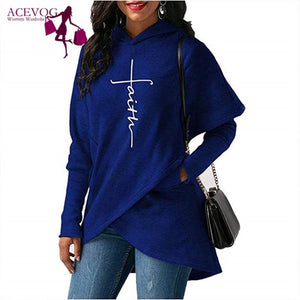 Faith Women's Pullover Hoodie S-XXXL Two Styles